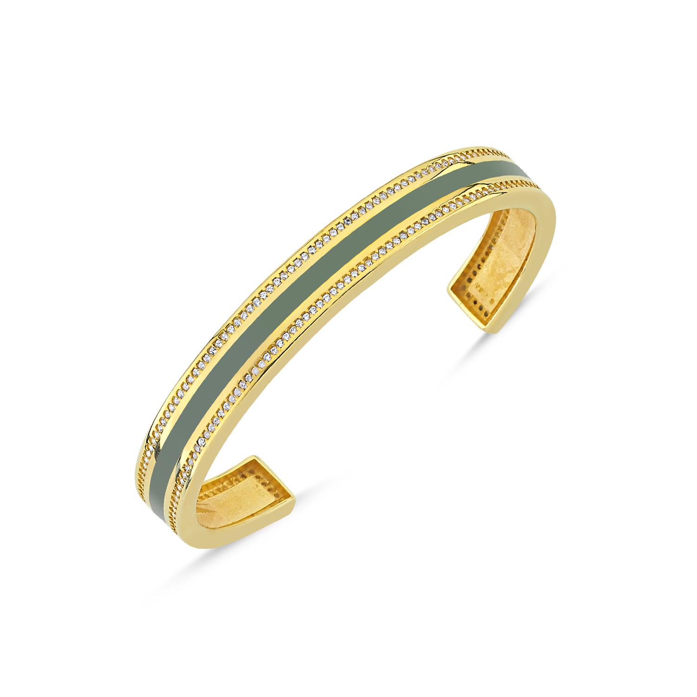 310bbe5c209 Green Enamel Cuff Bracelet | MERS