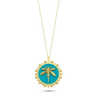 Yusufcuk Güneş Mavi Madalyon Kolye
