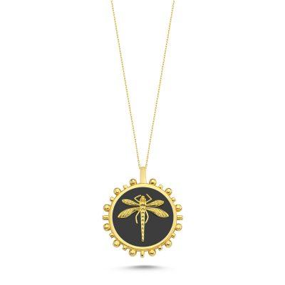 Yusufcuk Güneş Siyah Madalyon Kolye