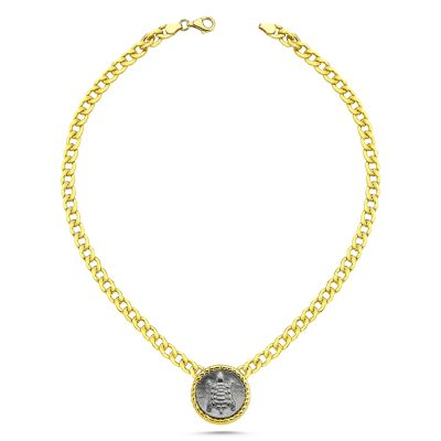 Turtle Coin Chain Necklace